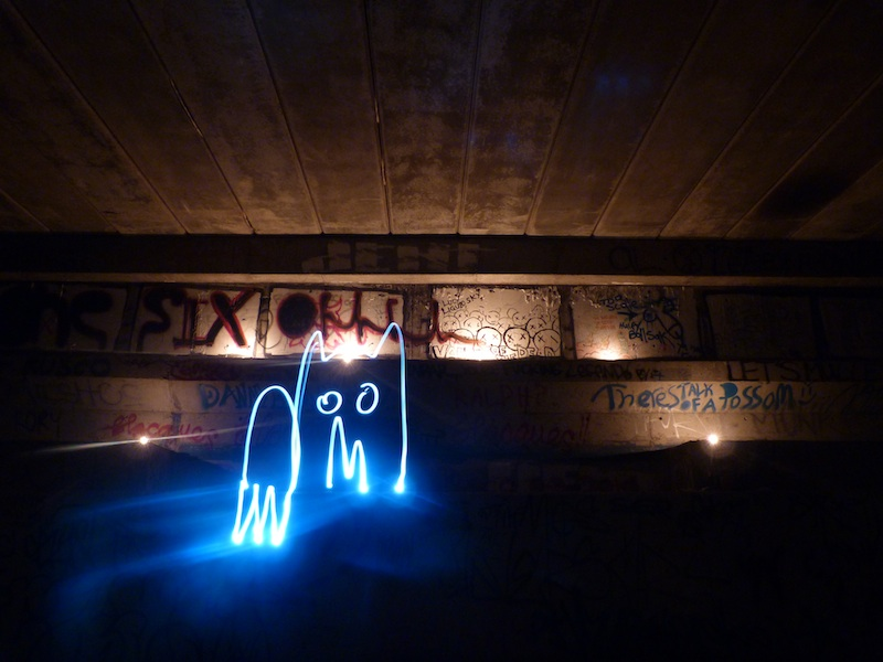 Monster drain lightpainting photography