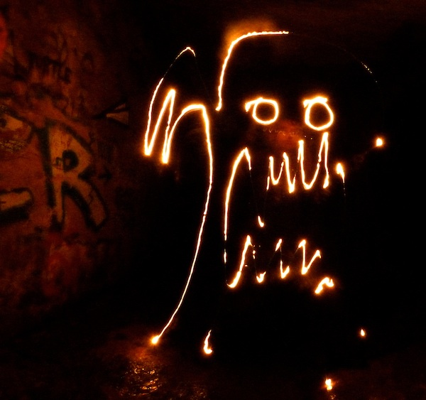 Sewer Monster lightpainting
