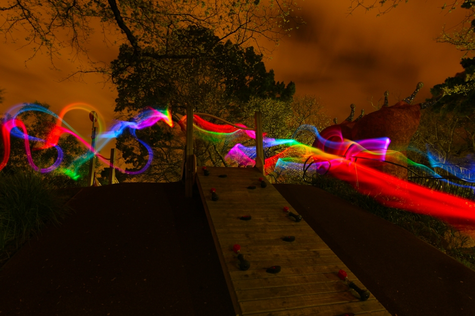 Lightpainting Alma park