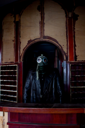 Gasmask at the apocalipse hotel