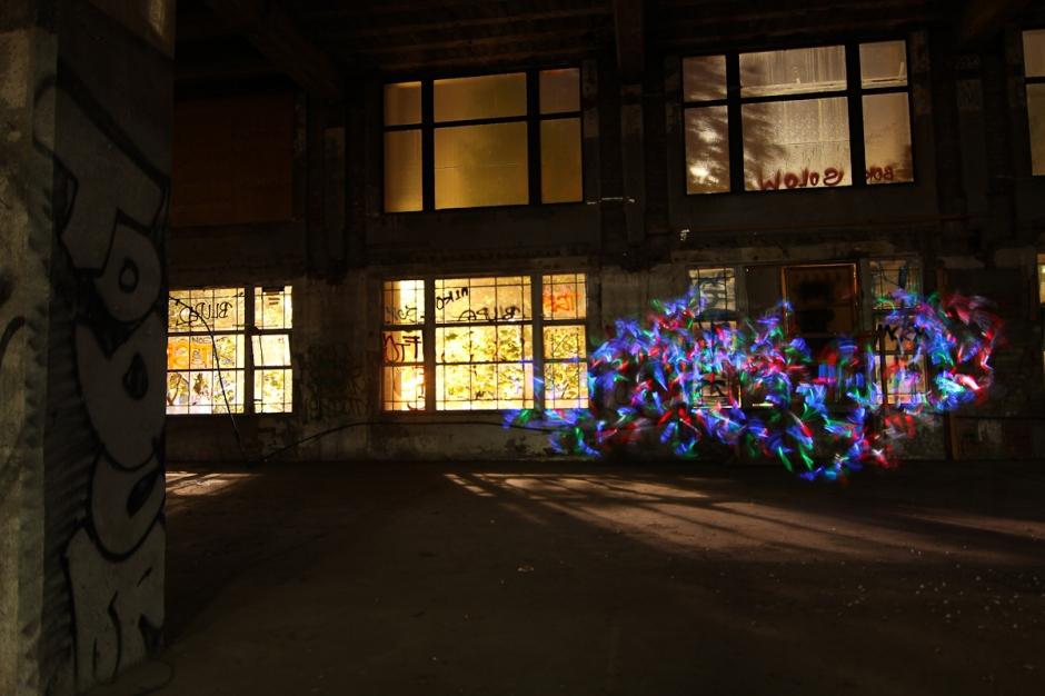 Argus building lightpainting