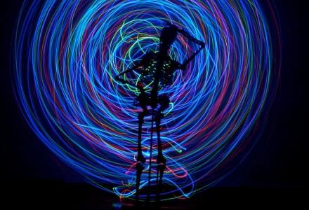 Skeleton lightpainting