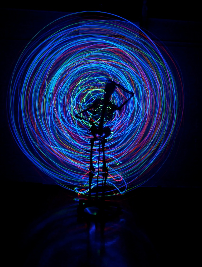 Skeleton lightpainting
