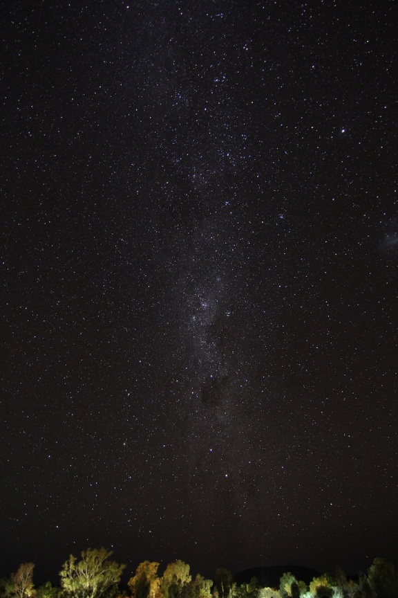 The Milky Way over the Red Centre