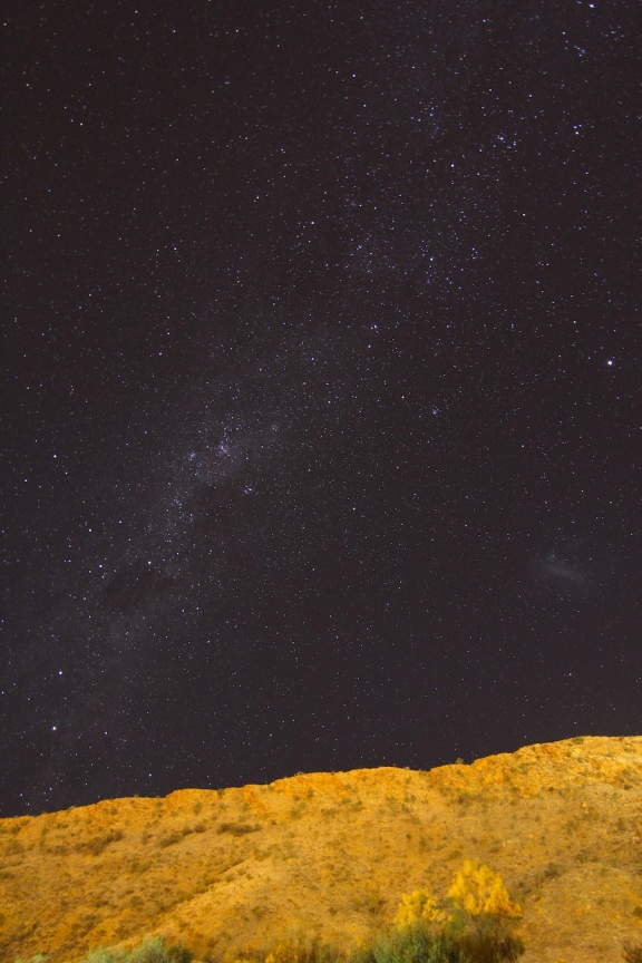 The Milky Way and the McDonnell Range