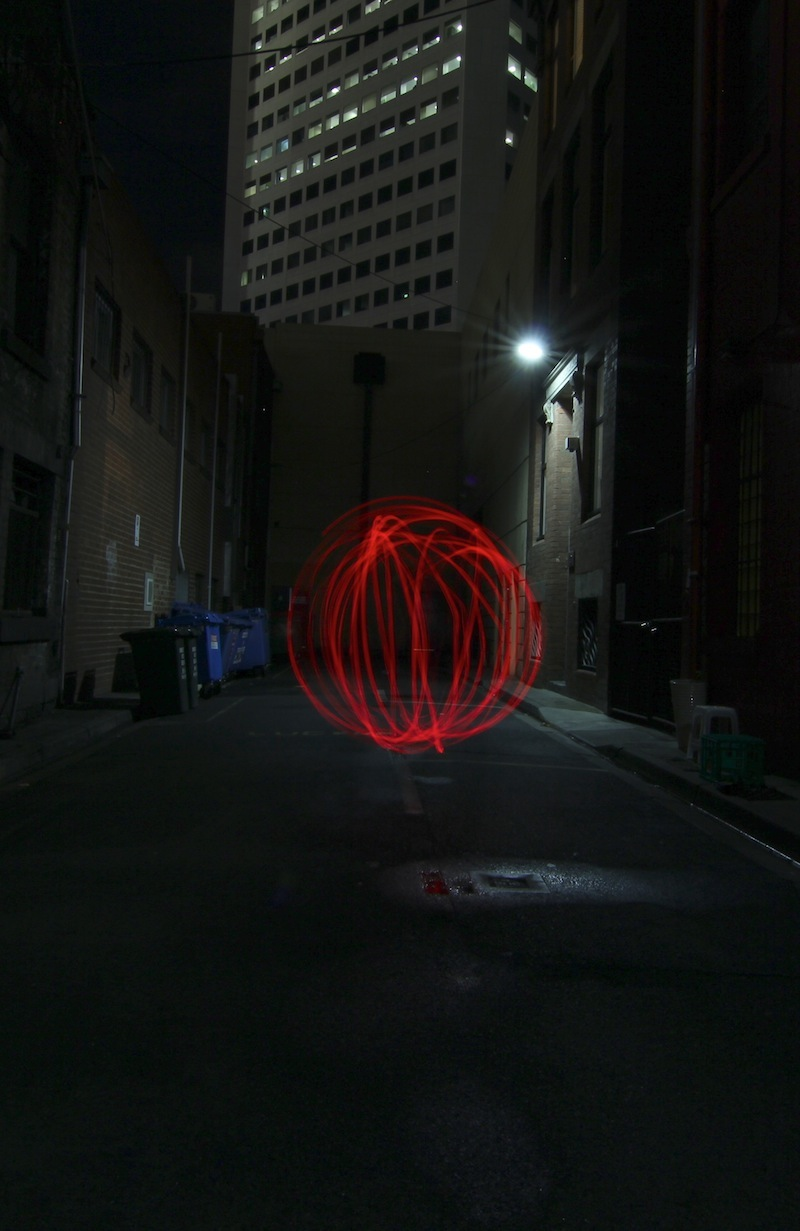 Partners in Light - Laneway orbs