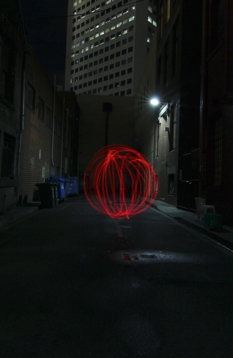 Partners in Light - Laneway orbs