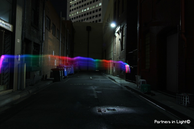 Partners in Light - Laneway Rainbow